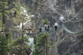 Ponte tibetano Cesana